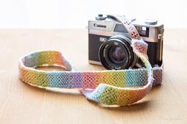工房 絲 シルク織カメラストラップ